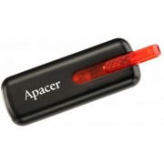 4 GB Apacer Handy Steno AH326, Black/Crystal Red, Capless Design, Retail USB Flash Drive