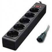 Surge Protector     for UPS,  1.8m, 5 Sockets, Power Cube, Black, SPX3-B-6PPB