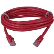 "Patch Cord     1 m, Red, PP12-1M/R, Cat.5E, molded strain relief 50u"" plugs"