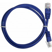 "Patch Cord     1 m, Blue, PP12-1M/B, Cat.5E, molded strain relief 50u"" plugs"