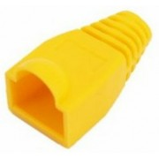 Boot cap for RJ-45, yellow, UTP cat.5 modular plug,  100 pcs/bag