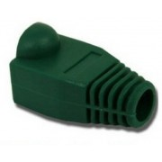 Boot cap for RJ-45, green, UTP cat.5 modular plug,  100 pcs/bag