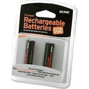 ACME Rechargable Batteries Ready to Use NiMh R03 (AAA)  900 mAh 2pcs