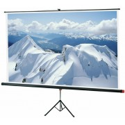 "Sopar Tripod Screen ""Junior"" 153x153cm, 88"", format: 1:1, 5Kg, Front white Lenticular/Rear Black, Viewing angle 150°"