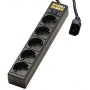 Surge Protector     for UPS,  1.8m, 5 Sockets,  Sven Special, BLACK, flame-retardant material