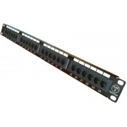 "24 ports FTP Cat.6 patch panel, LY-PP6-14, 19""  Krone IDC"