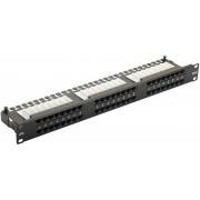 "48 ports UTP Cat.6 patach panel, LY-PP6-05, 19"" Krone & 110 Dual"