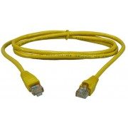 "Patch Cord     0.5m, Yellow, PP12-0.5M/Y, Cat.5E, molded strain relief 50u"" plugs"
