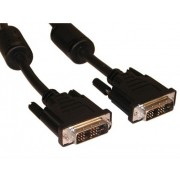 Cable DVI M TO DVI M,15M,DVD1004-15m,BLACK,WIRE 24+1 GOLD 30AWG WITH FERRITE