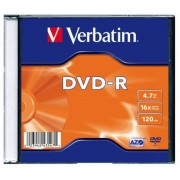 DVD-R 4.7GB, 16x, 1 Slim Case, Verbatim