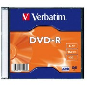 DVD+R 4.7GB, 16x, 1 Slim Case, Verbatim