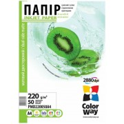 ColorWay DualSide MatteCoated Photo Paper A4, 220g, 50pcs  (PMD220050A4)