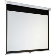 "Sopar Manual Projection Screen ""SLIM""-series. 180x180cm. Matt White. Reliable and affordable. Block mechanism every 10cm. Lacquered Iron Frame."