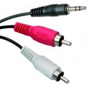Audio cable CCA-458-10M, 3.5 mm stereo to RCA plug cable, 10 m,  3.5mm stereo plug to 2x RCA plugs