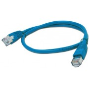 "FTP Patch Cord     0.5m, Blue, PP22-0.5M/B, Cat.5E, molded strain relief 50u"" plugs"