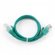 "Patch Cord     0.25m, Green, PP12-0.25M/G, Cat.5E, molded strain relief 50u"" plugs"