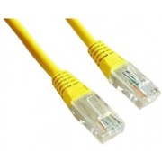 "Patch Cord     0.25m, Yellow, PP12-0.25M/Y, Cat.5E, molded strain relief 50u"" plugs"
