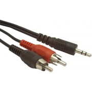 Gembird CCA-458 Audio 3.5mm stereo plug to 2 phono plugs 1.5 meter cable