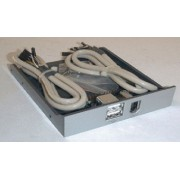 "3,5"" USB TRAY with 2xUSB, 1x1394 port brown"