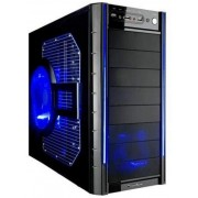 Transparent BLUE Sidepanel, Big window with Fan & Filter