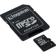 8GB Kingston microSDHC Class4 with SD adapter