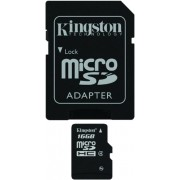 16GB Kingston microSDHC Class4 with SD adapter