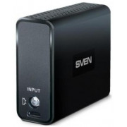 Power Bank  SVEN MP-4416  Black, Power capacity: 4400mAh, LED Flash, Portable Battery Charger with 1x USB output socket, Four LED Power capacity indicators, Output power: 5V/1A