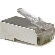 "RJ45 Shielded Modular Plug, Cat.5E, LY-US006-30U, Long Type, 30u"" Gold plated, 100pcs/bag"
