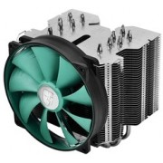 "DEEPCOOL Cooler  ""LUCIFER V2"", Socket 2011/1155/1150/775 & FM2+/FM2/FM1/AM3+/AM3, up to 130W, fan: 140х140х26mm, PWM fan with min.300RPM for extreme silence, 300~1400rpm, 12.6~31.1dBA, 81.33CFM, 4 pin, Hydro Bearing, Full-copper base, 6 heatpipes"