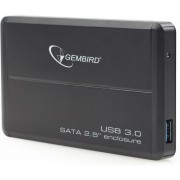 Gembird EE2-U3S-2, External enclosure for 2.5'' SATA HDD with USB3.0(5Gb/s) interface, Black