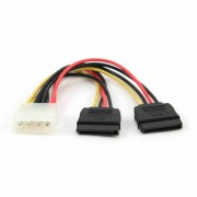Cable Serial ATAx2   15 cm, Power, Gembird, CC-SATA-PSY