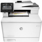 "HP Color LaserJet MFP M477fdn Print/Copy/Scan/Fax, 28ppm, Duplex, 256 MB, Up to 50000 pages, 50-sheet  ADF, 4,3"" touch display, USB 2.0, Ethernet 10/100/1000, HP PCL 5,6; Postcript 3, HP ePrint, Apple AirPrint™, Scan to USB, to email; White"
