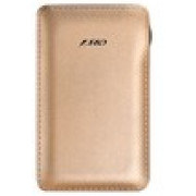F&D Power Bank Slice T1 (6000 mAh), Leather Texture, LED Power Indication, Golden