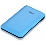 F&D Power Bank Slice T2 (8000 mAh), Leather Texture, LED Power Indication, Blue