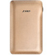 F&D Power Bank Slice T2 (8000 mAh), Leather Texture, LED Power Indication, Golden