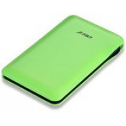 F&D Power Bank Slice T2 (8000 mAh), Leather Texture, LED Power Indication, Green
