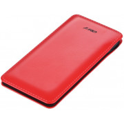 F&D Power Bank Slice T2 (8000 mAh), Leather Texture, LED Power Indication, Red