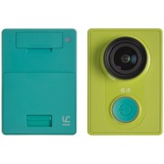 "Xiaomi ""Yi Action Camera"", Green, Video Resolutions: up to 1296p 30fps/ 1080p 60fps / 720p 120fps/ 480p 240fps, 155°, Ambrella A7LS, Sensor:16MPx Sony (Exmor R BSI CMOS), Microphone, WiFi, Bluetooth, Battery 1010mAh, up to 100 minutes, 70g"