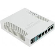 MikroTik RouterBOARD RB951G-2HnD Wireless Router, 2.4GHz Dual chain, AP/Bridge/Station/WDS, 802.11b/g/n, 1 WAN + 4 Gbit LAN, USB, internal antenna, Wireless chip model AR9344 600MHz, RAM 128MB, PoE in, PoE out (Ether5), RouterOS