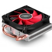 "DEEPCOOL Cooler ""HTPC-200"", Socket 775/1150/1151 & FM2/FM1/AM3+, up to 100W, 80х80х15mm, 600~2500rpm, 17.8~26.2 dBA, 23CFM, 4 pin, PWM, 47mm ultra-thin design compatible with HTPC Case &ITX MB, Hydro Bearing, 2 heatpipes direct contact"
