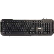 "ZALMAN ""ZM-K200M"", Multimedia Keyboard, 10-Keys, Ergonomically designed, 8 Blue colored direction keys, USB, Black"