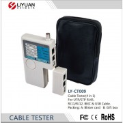 "Cable Tester ""LY-CT009"" for UTP/STP RJ45, RJ11, RJ12 & BNC, USB cables"