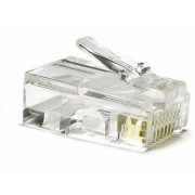 "RJ45 Modular Plug, Cat.6, LY-US010-30U, Long Type, 30u"" Gold plated, 100pcs/bag"