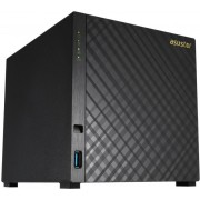 "4-bay NAS Server  ASUSTOR ""AS1004T"", Marvell Armada-385 (Dual-Core) 1GHz, 512MB DDR3, 3.5"" SATA x4, USB 3.0 x2, Gigabit LAN x1, Hardware Encryption Engine, Surveillance: Max.IP cam-8 (4 Free Licenses)"