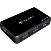 "USB 3.0 Hub 4-port Transcend ""TS-HUB"", Black (+Power Adapter 12V, 1.5A)USB-to-USB Data Link For Direct Data Transferring Between PCs3 ports (USB Type A) for USB hub function1 port (USB mini B) for data transfer function"