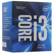CPU Intel Core i3-7100 3.9GHz (3MB, S1151,14nm,Intel Integrated HD Graphics 630,51W) Box2 cores, 4 threads,Intel HD 630