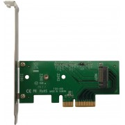 "PCIe 3.0 x4 Host Adapter LyCOM ""DT-120"" for M.2 NVMe/AHCI PCIe SSD(80,60,42), Regular/Low Profile"