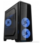 """Case ATX Gamemax G561-F Blue, Transparent side panel, 3 x 12cm 32xLeds Blue LED Fans, USB3.0 """"59Plus chassis, 0.5mm Case in black,  Black Chassis inside  USB3.0*1+USB2.0*2, HD_Audio Port,  Handy Screw, Hdd cage with Tool-less Kit Front panel : 12cm"