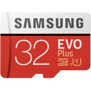 32GB Samsung EVO Plus MB-MC32GA/EU microSDHC (Class 10 UHS-I) with Adapter, Read:up to 95MB/s, Write:up to 20MB/s