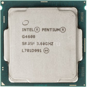 Процессор Intel Pentium G4600 Dual-Core, S1151, 3.6GHz, 3MB Cache, Intel® HD Graphics 630, 14nm 51W, tray
